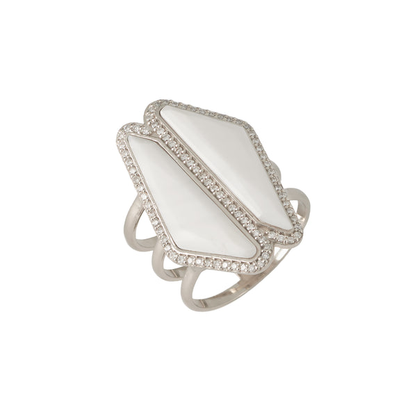 Bone Double Halo Slice Ring new design ring for women