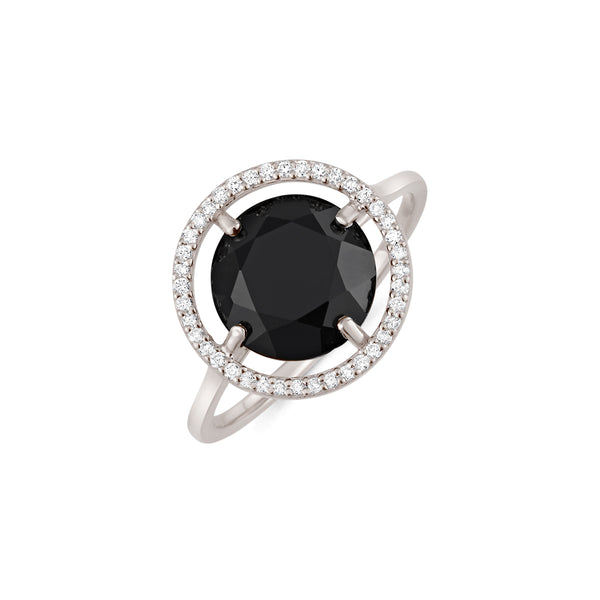 Obsidian Earth Ring