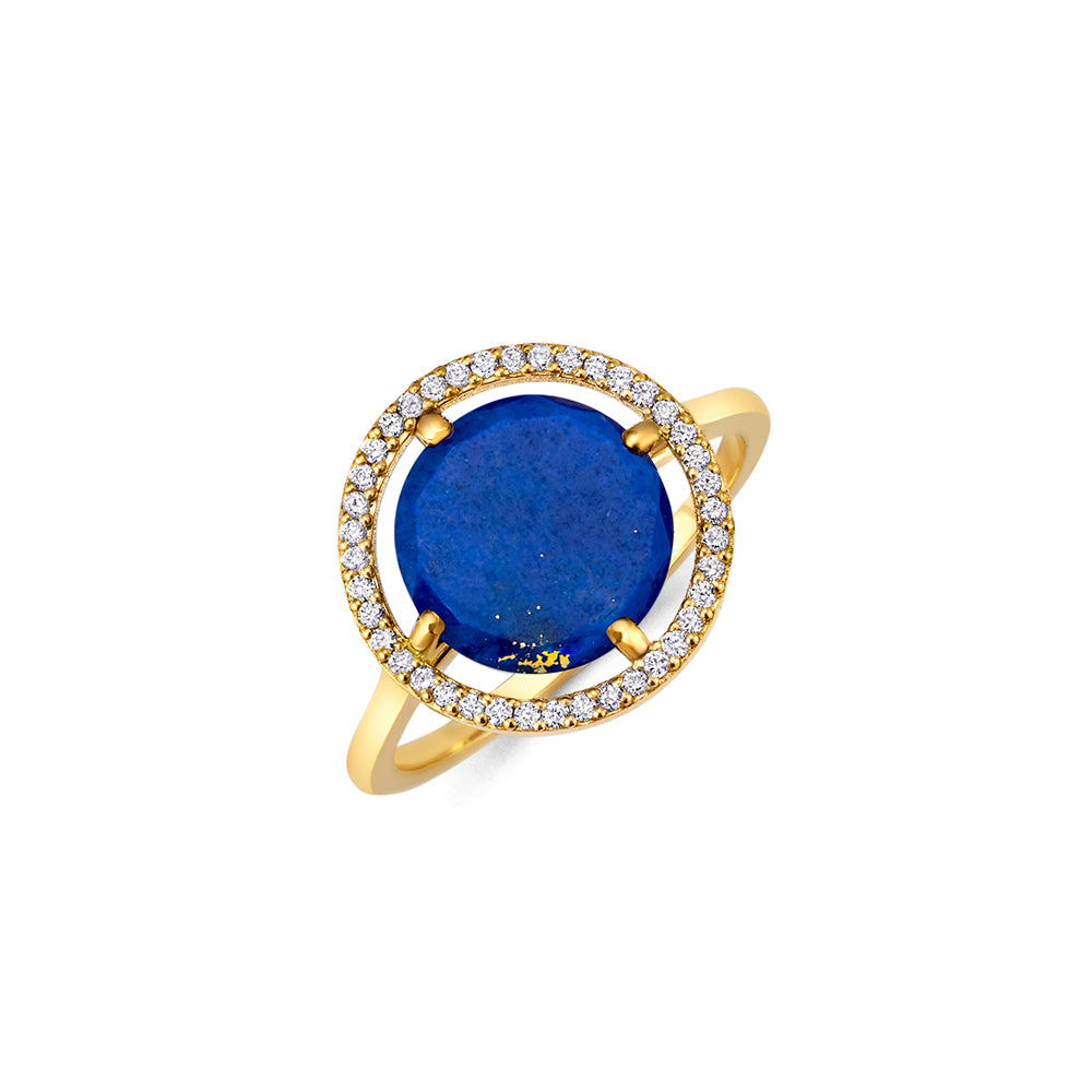 Lapis Earth Ring