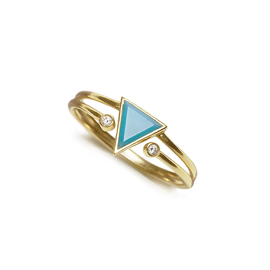 gold turquoise ring new design for women | Ambyr Childers Jewelry
