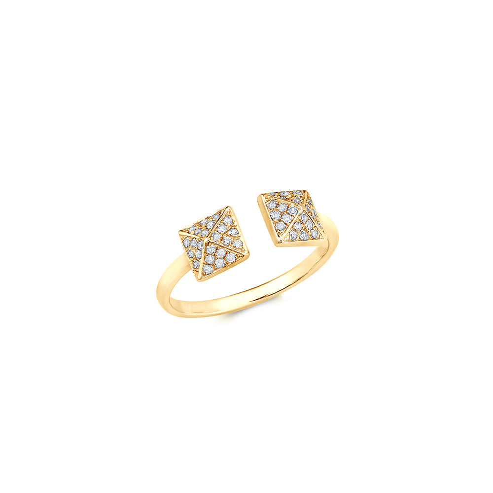 Midi ring set mound gold ring | Ambyr Childers Jewelry