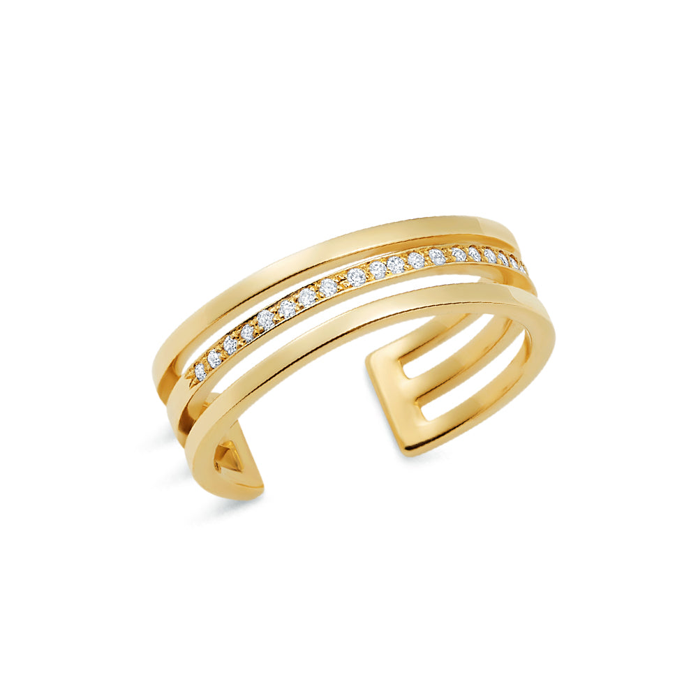 Pavé Tri Band Ring