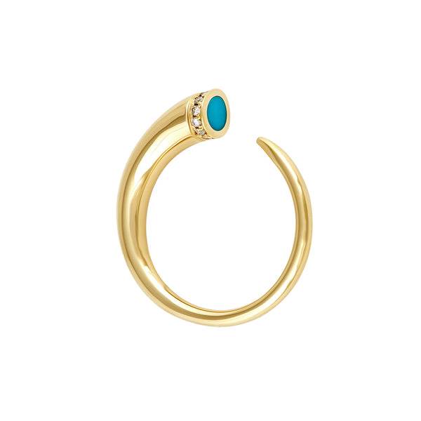 Horn Ring gold  | Ambyr Childers