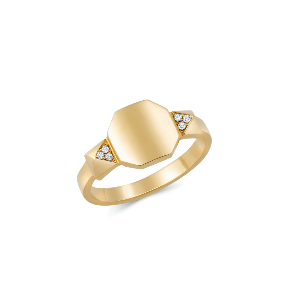 Pyramid Signet Ring