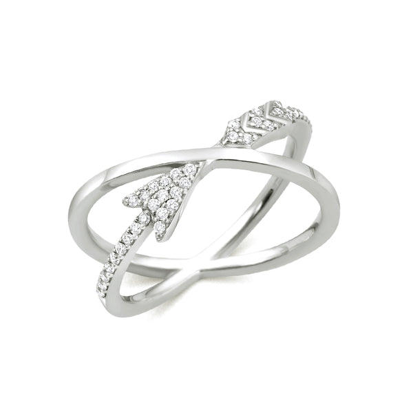 Crossing Arrow Ring