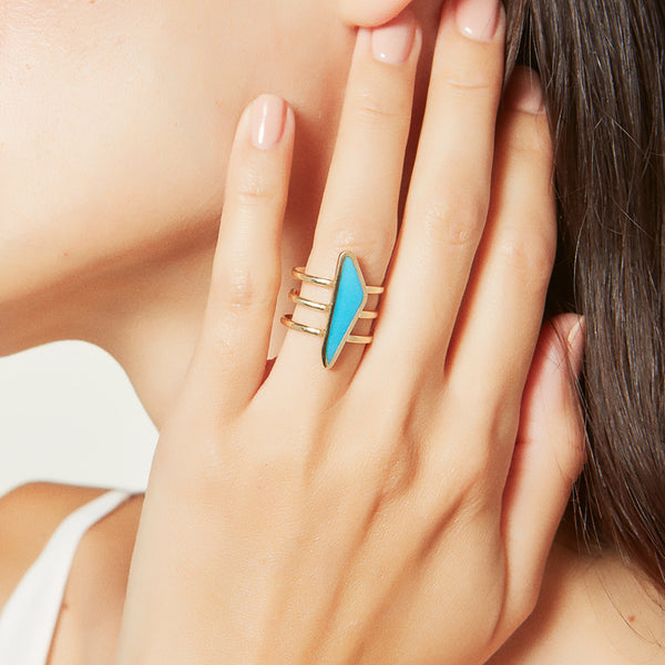 Turquoise Slice Ring