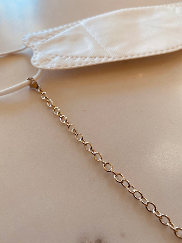 face mask chain gold style