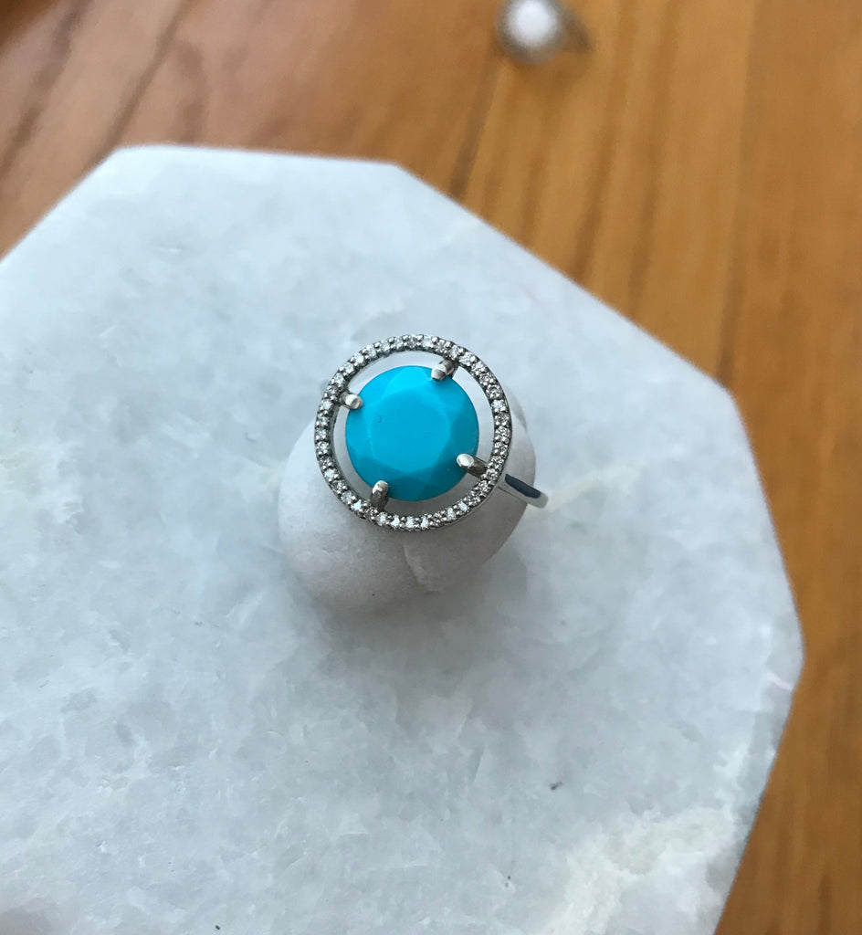 Turquoise Earth Ring gold ring new design for women | Ambyr Childers Jewelry