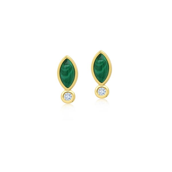 Malachite Eclipse Studs