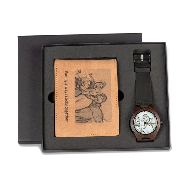 El Regalo Perfecto ( Reloj + Cartera Personalizable )