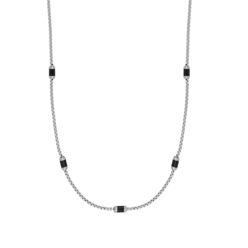 Flaky black necklace - Goyatè