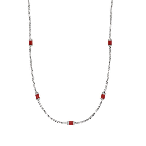 Flaky red necklace - Goyatè