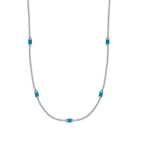 Flaky blue necklace - Goyatè