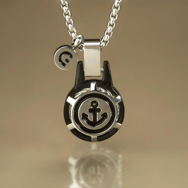 IRWIN ANCHOR NECKLACE BLACK - Goyatè