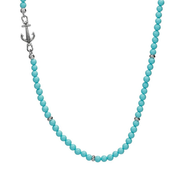 BRUCE ANCHOR NECKLACE TURQUOISE - Goyatè