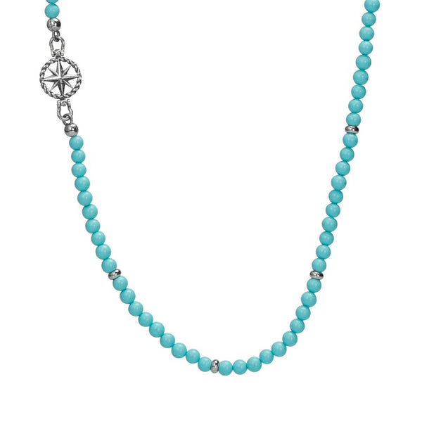 BRUCE WINDROSE NECKLACE TURQUOISE - Goyatè