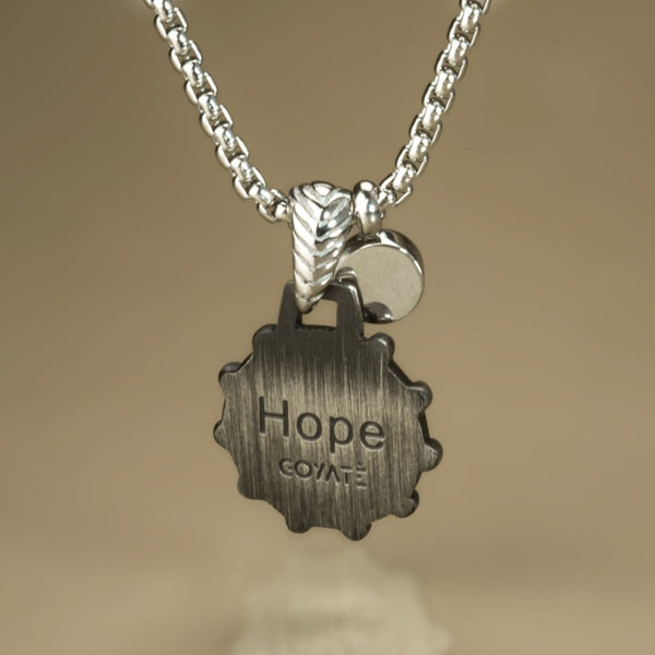 Hope blue vintage necklace - Goyatè