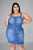 EMBRACING MY CURVES MINI DENIM DRESS - Fabulous 1 Boutique