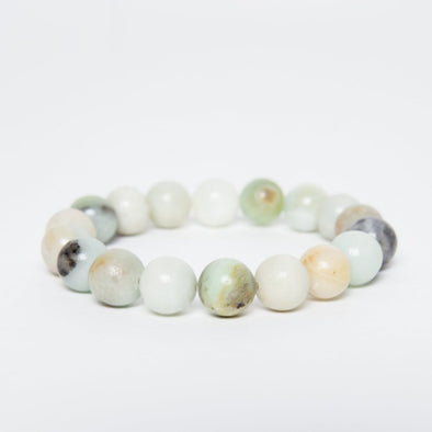The Jewel Mama Amazonite Crystal Bracelet. Healing Crystal Bracelets. Buy amazonite bracelet. Shop crystals. Buy Amazonite. Handmade Jewelry.