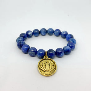 Blue Kyanite. Tranquility bracelet. Handmade jewelry. The Jewel Mama. Buy. Shop. Los Angeles.