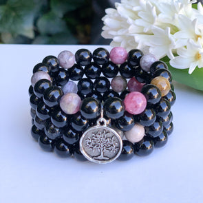 Tourmaline. The Jewel Mama. Buy. Shop. Crystals. Bracelets. Yoga Collection.