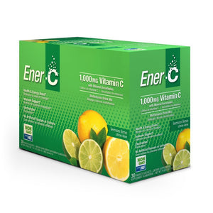 Ener-C Lemon Lime Effervescent Multivitamin Drink Mix – 1000mg of Vitamin C