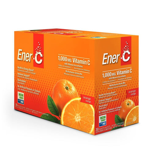 Ener-C Orange Effervescent Multivitamin Drink Mix – 1000mg of Vitamin C