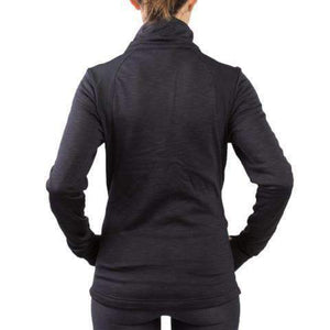 sync-performance-black-women's-training-jacket-fleece-back-model