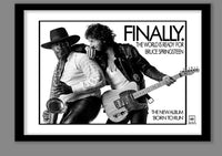 Bruce Springsteen Poster .Born to Run promo. Large Springsteen wall art . Classic album art. Album cover art. 70s rock poster. Rock promo