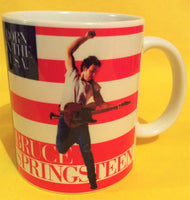 Bruce Springsteen Born in the U.S.A.1984 cover on a mug.