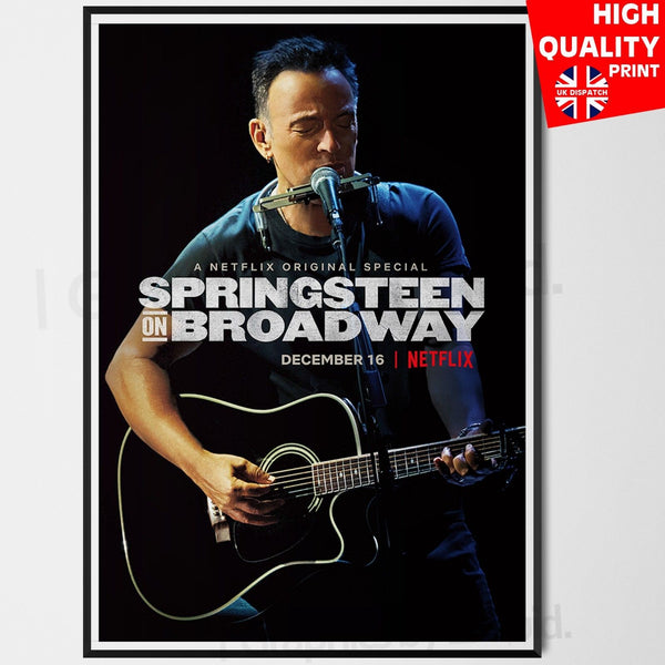 Bruce Springsteen on Broadway Poster Print Music TV Series | A4 A3 A2 A1 |