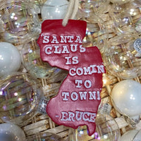 Santa Claus is Coming to Town - Bruce New Jersey Ornament