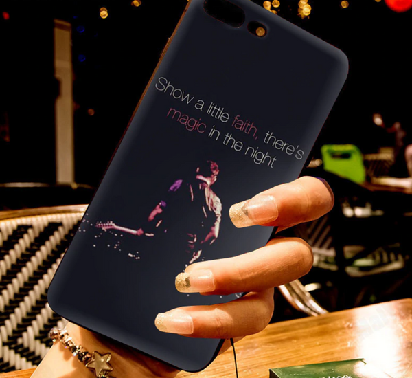 Show a little faith | Thunder Road Black iPhone Phone Case Bruce Springsteen