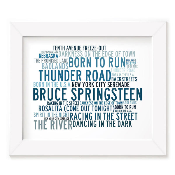 Bruce Springsteen Poster Print - Anthology - Lyrics Gift Signed Art