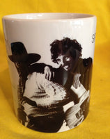Bruce Springsteen Born to Run 1975 cover on a mug.