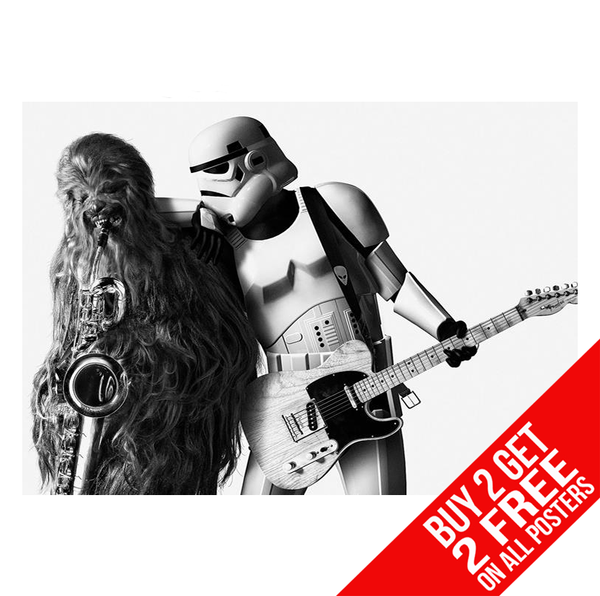 STAR WARS BORN TO RUN POSTER A4 A3 SIZE