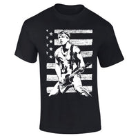 Mens Bruce Springsteen Iconic Black Rock T-shirt