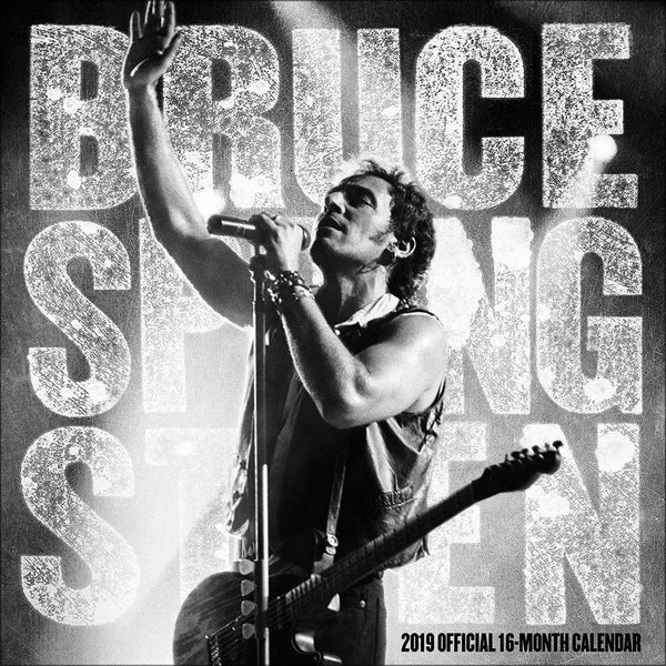 Bruce Springsteen Calendar 2019 Official Square Wall Planner