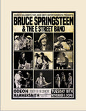 Bruce Springsteen 1975 First Ever London Odeon Concert Poster