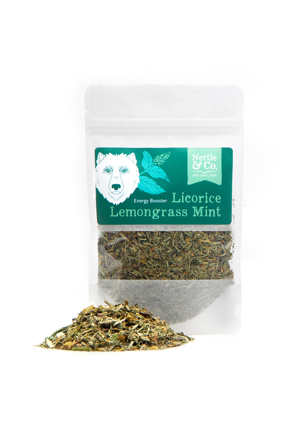 Nettle & Co licorice lemongrass mint tea