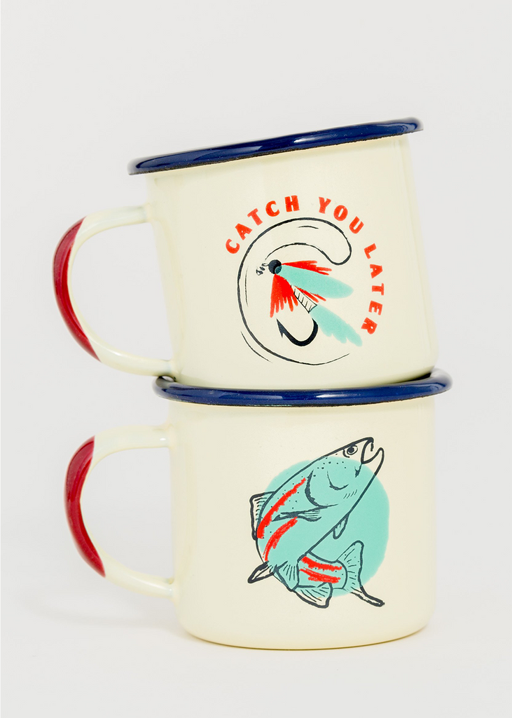 Catch You Later Enamel Shot Glass Set