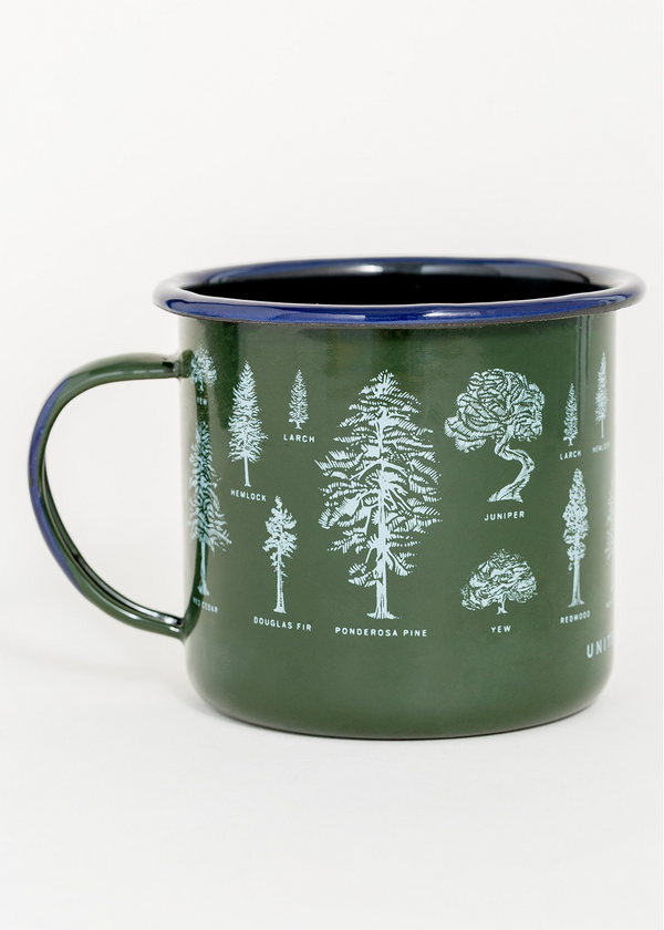 Evergreen Enamel Steel Mug - 22oz