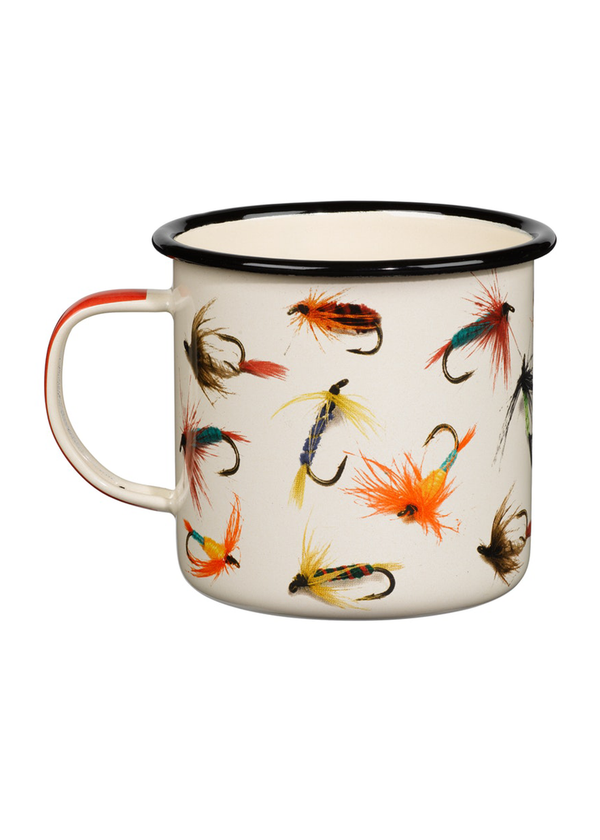 Fly-Fishing Enamel Mug