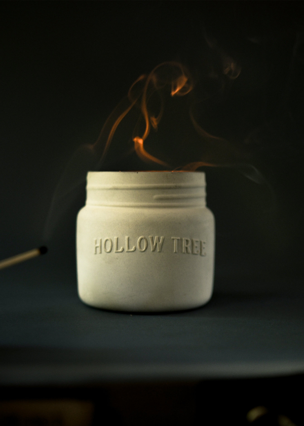 Hollow Tree Golden Spruce Candle