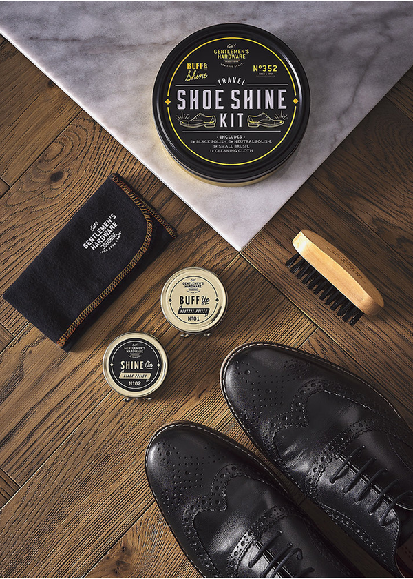 Gentlemen's Harware Travel Shoe Shine Tin Kit