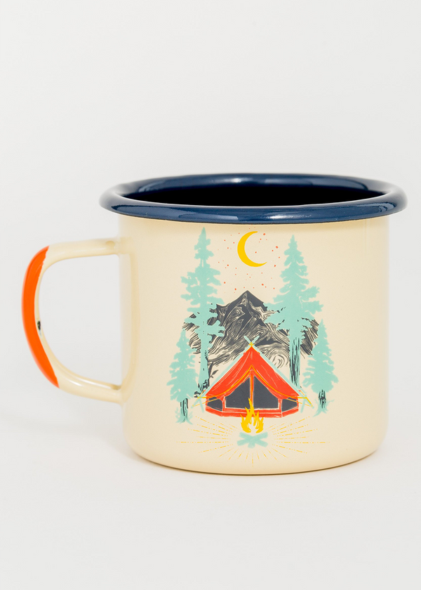 Tent Dreams Enamel Steel Mug - 12oz