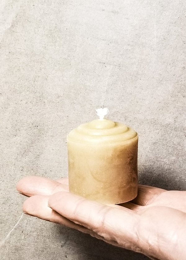 Beeswax Votives, Natural