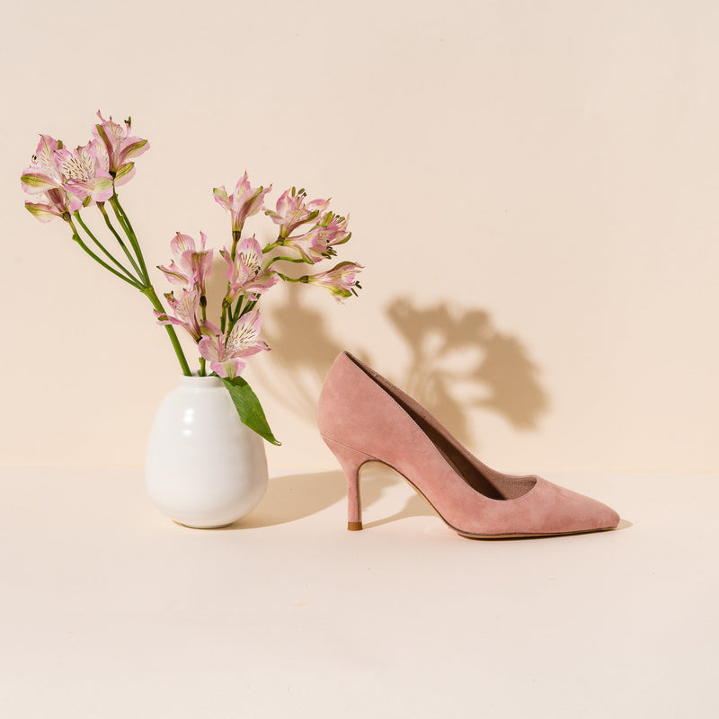 Blissful Blush Suede Pump