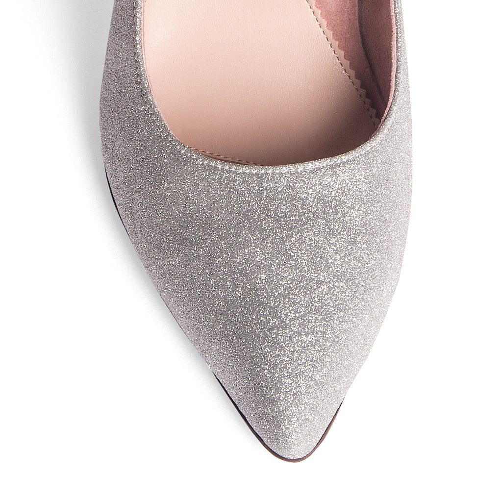 Silver Shimmer Mary Jane Pump