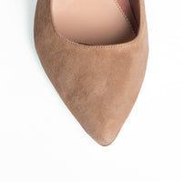 Tenacious Tan Suede Mary Jane Pump